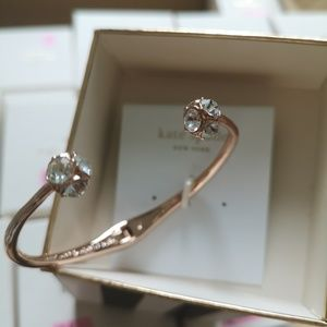 Kate spade lady marmalade rose gold cuff bracelet
